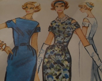 Vintage 1950's McCall's 5167 Dress Sewing Pattern, Size 12 Bust 32