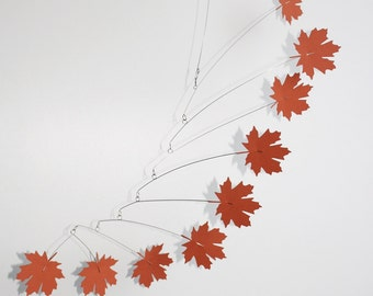 Hanging mobile, Leaf mobile, Home decor, kinetic mobile