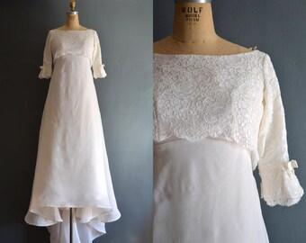 Carressa / 60s wedding dress / 1960s wedding dress