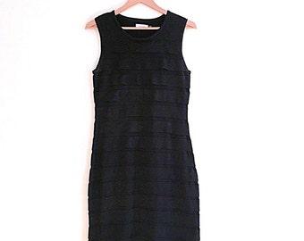 Vintage Calvin Klein Black Bodycon Tank Dress // LBD // 90s // Sheath