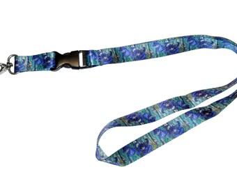 DutchArt Van Gogh Irises Premium Keychain Holder Lanyard