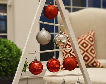 SALE White A-frame Christmas Tree Ornament Display/ Ornament Hanger