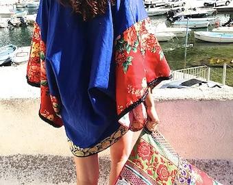 Short kimono cotton mix and match