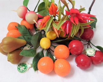 Vintage Plastic Fruit Vegetables Japan Hong Kong