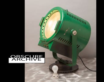 """CENTURY STAGE LIGHT - Giant 12"""" Fresnel Lens - Hollywood Spot Light - converted to use standard light bulbs - 2 matching lights available"""