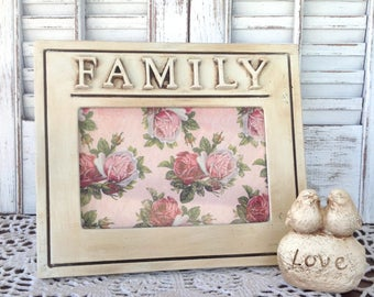 FAMILY Picture Frame - 4 x 6 Table Top - Antique Finish