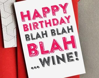Happy birthday wine funny