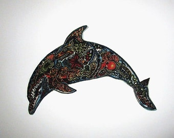 """Dolphin Applique Iron On Patch 6"""""""