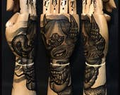 Ramon Maiden hand painted...