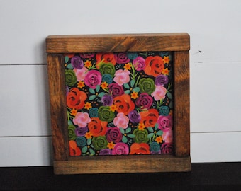 Flower Garden- Mini Wood Sign