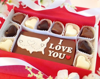 I Love You Chocolates - Long Distance Chocolates - Gift For Him or Her