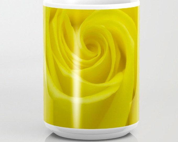Yellow Rose, coffee mug, Photography, Photo Mug, Coffee Mug, Unique Mug, Flower Mug, Beverage, Flower Photography