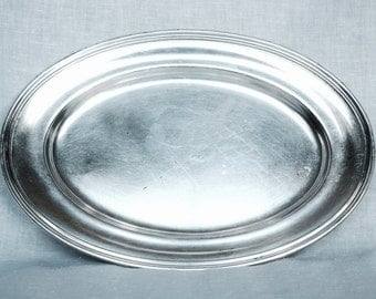 Vintage University Club tray...R Wallace silver soldered tray...hotel silver tray...silver plate bread tray...0190.