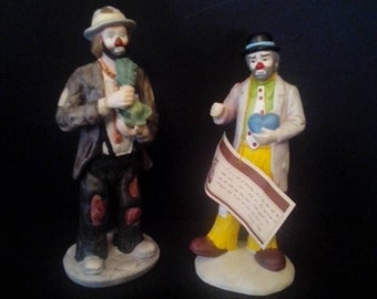Emmett Kelly Clowns from Flambro