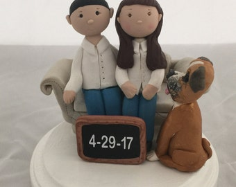 Reserved wedding cake topper