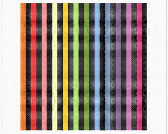 Needlepoint Kit or Canvas: Pillow Colorbars