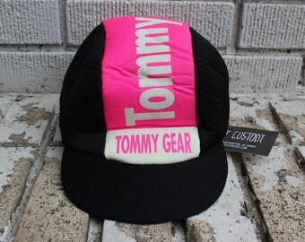 Vintage TOMMY HILFIGER Biker Hat U.S.A. Outdoor Messenger Hat Tommy Gear