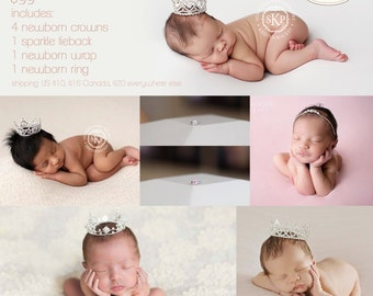 Surprise Prop Box - Newborn Crown, Photo Props, baby crown, photography prop, crystal crown