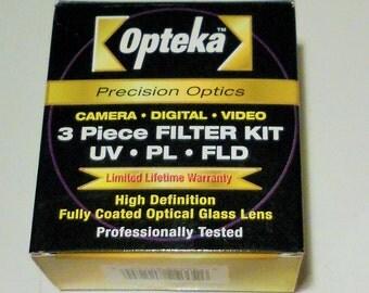 Opteka  52mm Lens Filters, 3 piece Kit, Original Box