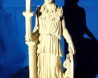 Vintage Statue Athena From Greece.Ancient Goddess of wisdom.Figurine from Greece,Mantle Piece Athena .Souvenirs from Greece.