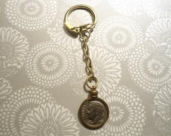 1 Brass U.S. Dime Key Chain