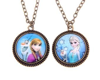 Set of 2 Necklaces Frozen 2020C