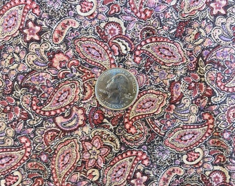 Cotton Paisley Print in Shades of Mauve ... 2 1/2 Yards