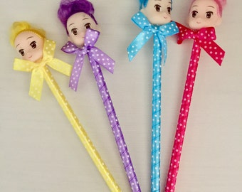 Set of Four Dolly Pens