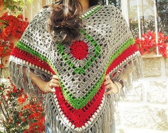 Bohemian Poncho Crochet Pattern