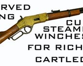 Reserved Listing ,Custom steampunk Winchester Rifle for Richard Cartledge.