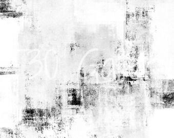 Digital Download - Snowfall, Black and White Abstract Artwork