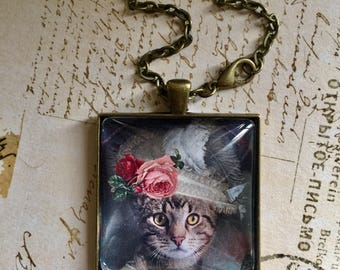 Cat Fancy A Pendant Necklace On Etsy Necklace Pendant Victorian CATS  On  ETSY Cat Jewelry Fancy Cat Pendant Original Design CATS
