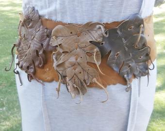 Leather Leaf Belt