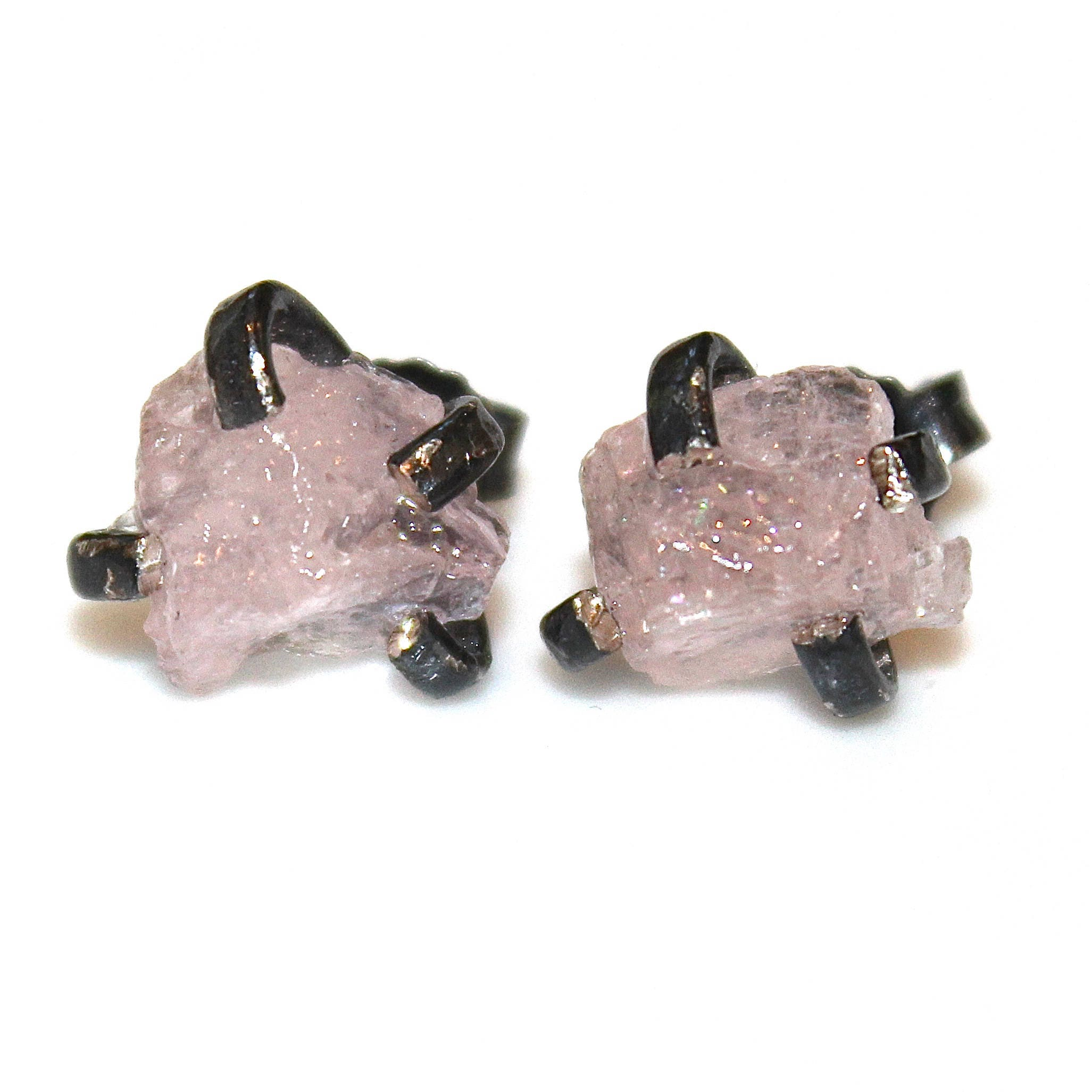 earrings diamond gold cut svtm stud a online rose jewellery morganite earring fancy