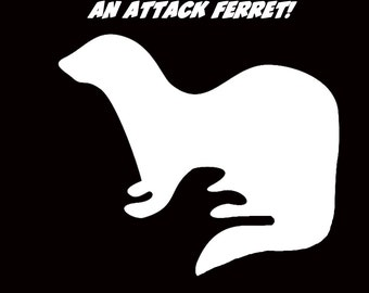 Attack Ferret Vinyl Window Decal