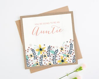 New Auntie Floral Card