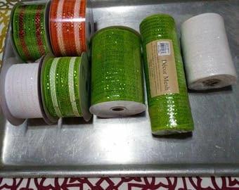 Mesh fabric ribbon