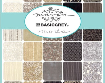 Maven Charm Pack by Basic Grey for Moda