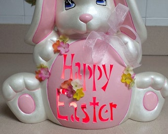Personalized Ceramic Easter Bunny