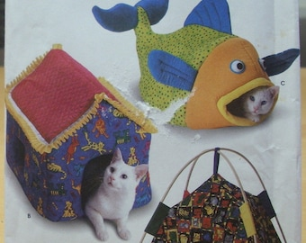 Free shipping! Simplicity 9004 crafts cat shelters UNCUT