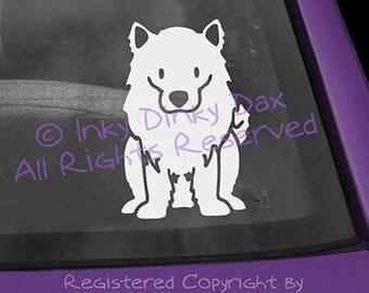 American Eskimo Dog Cartoon Vinyl Decal