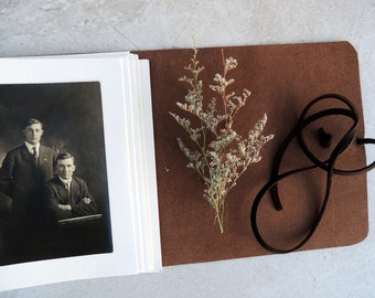 Leather Photo album, picture book, leather scrapbook
