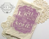 Even So, It is Well with My Soul. Hymn Natural Cotton Flour Sack Tea Towel. Hymn Art. Hostess Housewarming gift. Christmas gift Kitchen gift