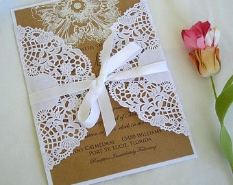 Wedding Invitation White Lace Wrap Paper Lace Wrap Black Lace Wraps Invitations Sleeve Wedding Invitation Doily Lace Wrap Invitation