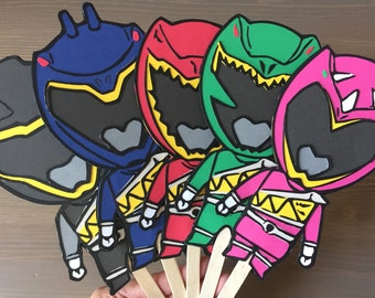 Power Rangers Dino Charge Party Centerpiece Sticks