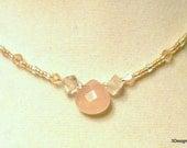 Rose Quartz Jewelry, Rose Quartz Choker, Rose Quartz Necklace, Natural Gem, Pink Necklace, Gift For Her, Bridesmaid Gift, Valentines, BCA
