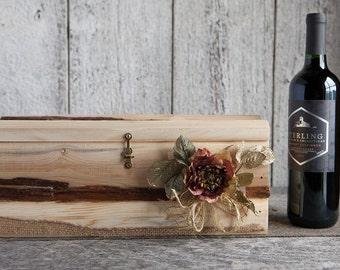Wine box/Wine rustic box/Wedding wine box/Custom wine box/First fight box/Wine box ceremony/Anniversary gift/Time capsule/Shower gift/