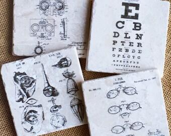 Optometry- Optometrist Gift, Optometry Gift, Optometrist, Eye Dr Gift, Optometry Decor, Eye, Doctor, Coasters, Dr, Unique Gift, art