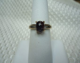 Cabochon oval cut Tri-Color Sapphire Ring in Sterling Silver   #1974