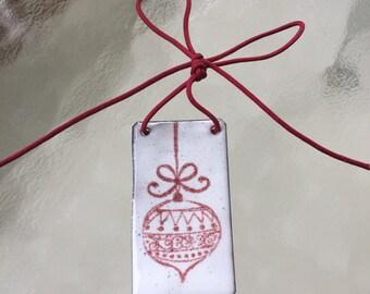 Holiday Enameled Ornament